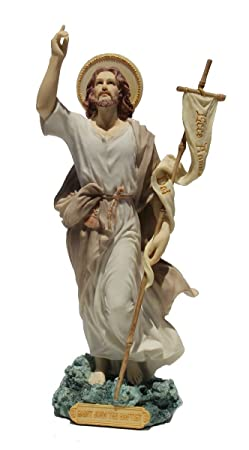 9.5 Inch St. John The Baptist Decorative Statue Figurine, Pastel Color