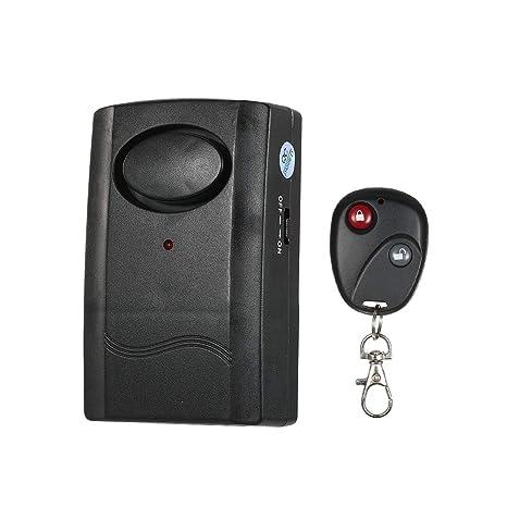 Control Remoto inalámbrico Vibración Alarma Detector ...