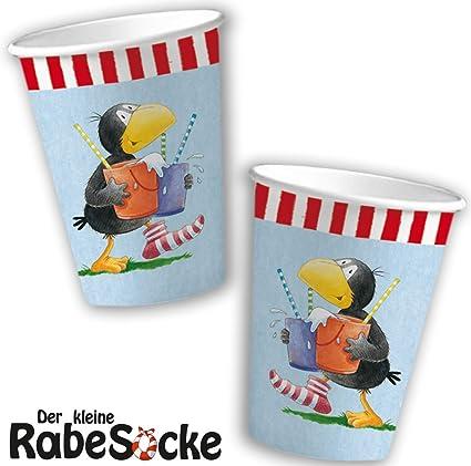 8 vasos * der Kleine Rabe Socke * para Fiesta de cumpleaños ...