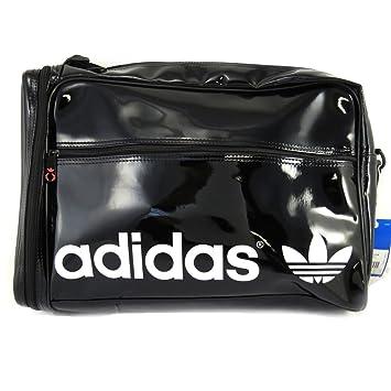 b9a1b5420c Adidas [M1319] - Sac bandoulière 'Adidas' noir vernis (40x35x12 cm ...