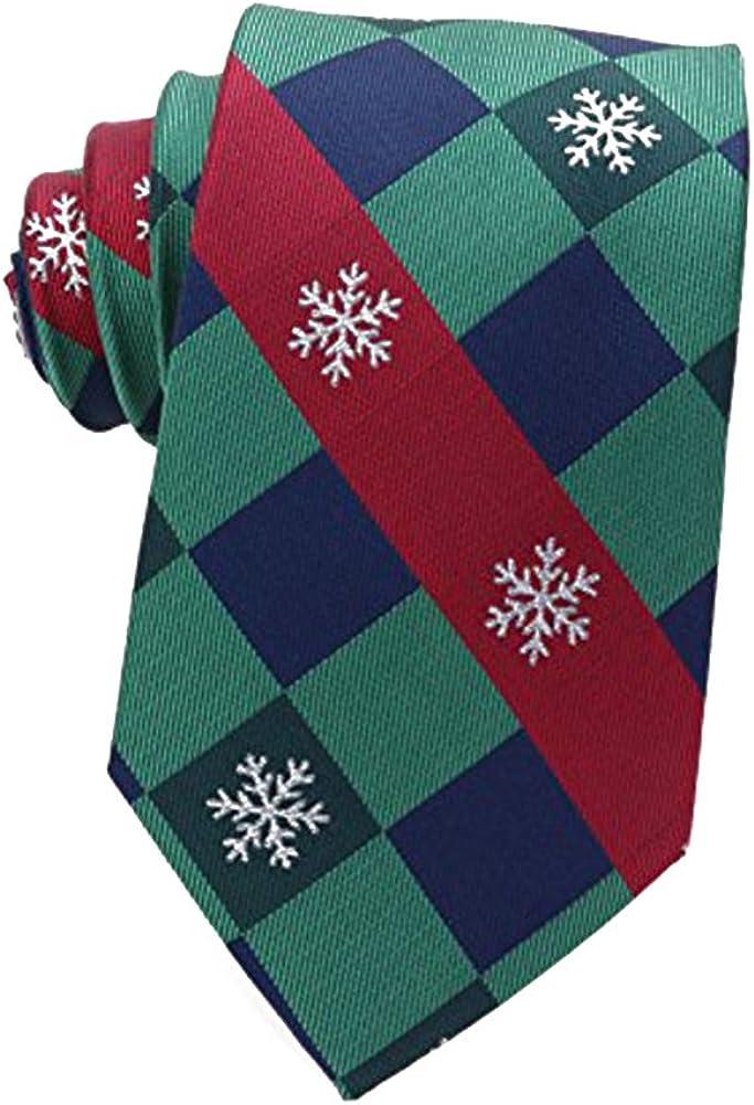 Mens Necktie Polyester Tie Neckties Christmas Ties for Men Neck Tie: Clothing