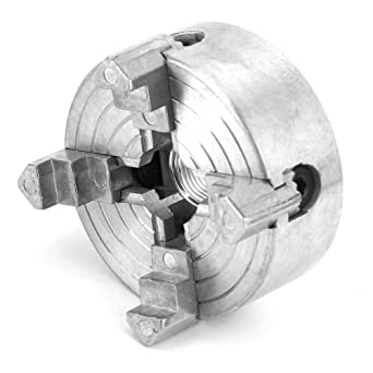Tornio a 4 ganasce Chuck Robusto in lega di zinco Tornitura di legno Chuck Clamp Micro Tornio per tornio in metallo Parte