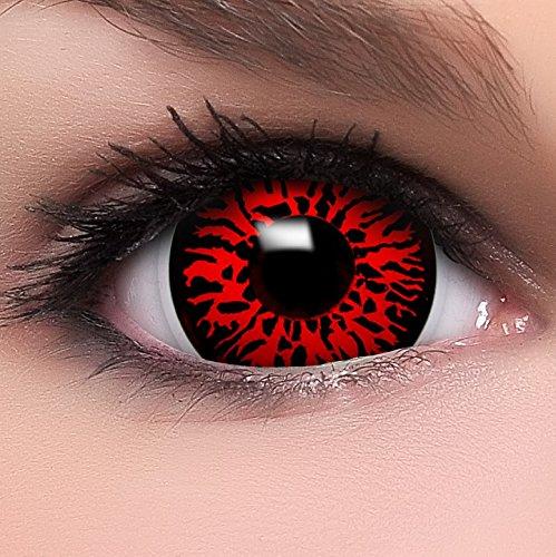 9132780b932f5 FUNZERA® Mini Sclera Lentillas de Colores Demon + recipiente para lentes de  contacto