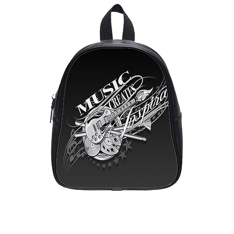 Custom Music PU Leather Kids School Bag (Small)