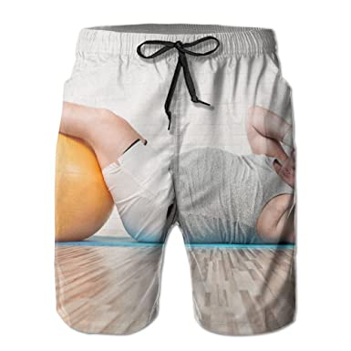 601fc5f900 Amazon.com: HFSST Fat Guy's Doing Sit-ups Yoga Mats Yoga BallsHandsome Fashion  Summer Cool Shorts Swimming Trunks Beachwear Beach Shorts: Clothing