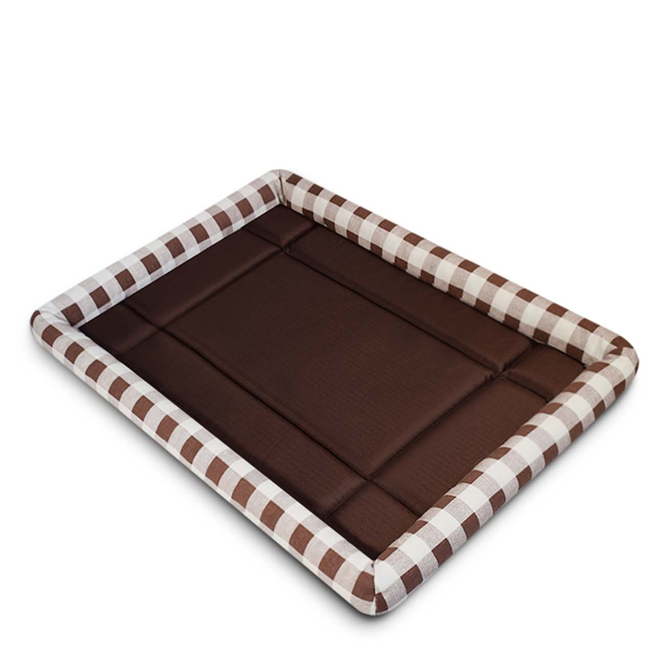Brown Large Brown Large Black Manba Durable Comfortable Soft Cooling Pet Bed Cushion Mat Lightweight Portable Bolster Mat For Dog Cat Comfortable Non-sticky Hair Washable Floor Mattress For Cars (Multi-color Op