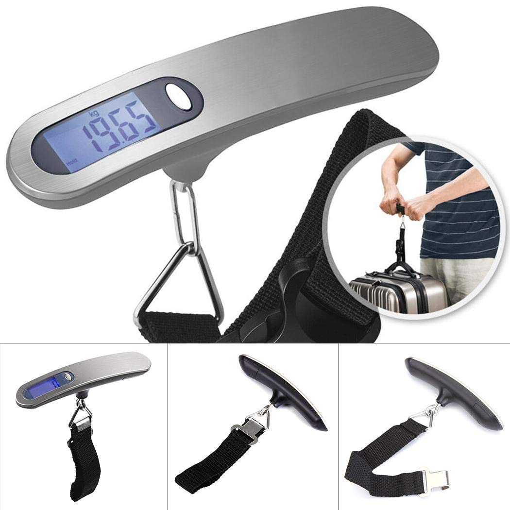 Bravet Portable Stainless Steel Hand Luggage Scale Electronic Scale 50Kg by Bravet