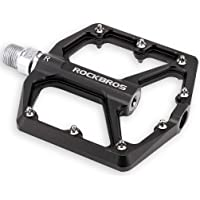 ROCKBROS Mountain Bike Pedals MTB Pedals 9/16-Inch Sealed Bearing Lightweight Aluminum Alloy Bicycle Platform Flat…