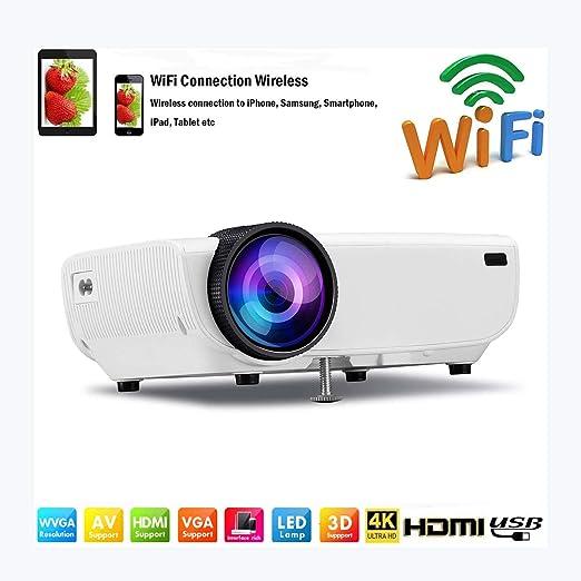 Proyector Mini proyector LED portátil Proyectores de video WiFi ...