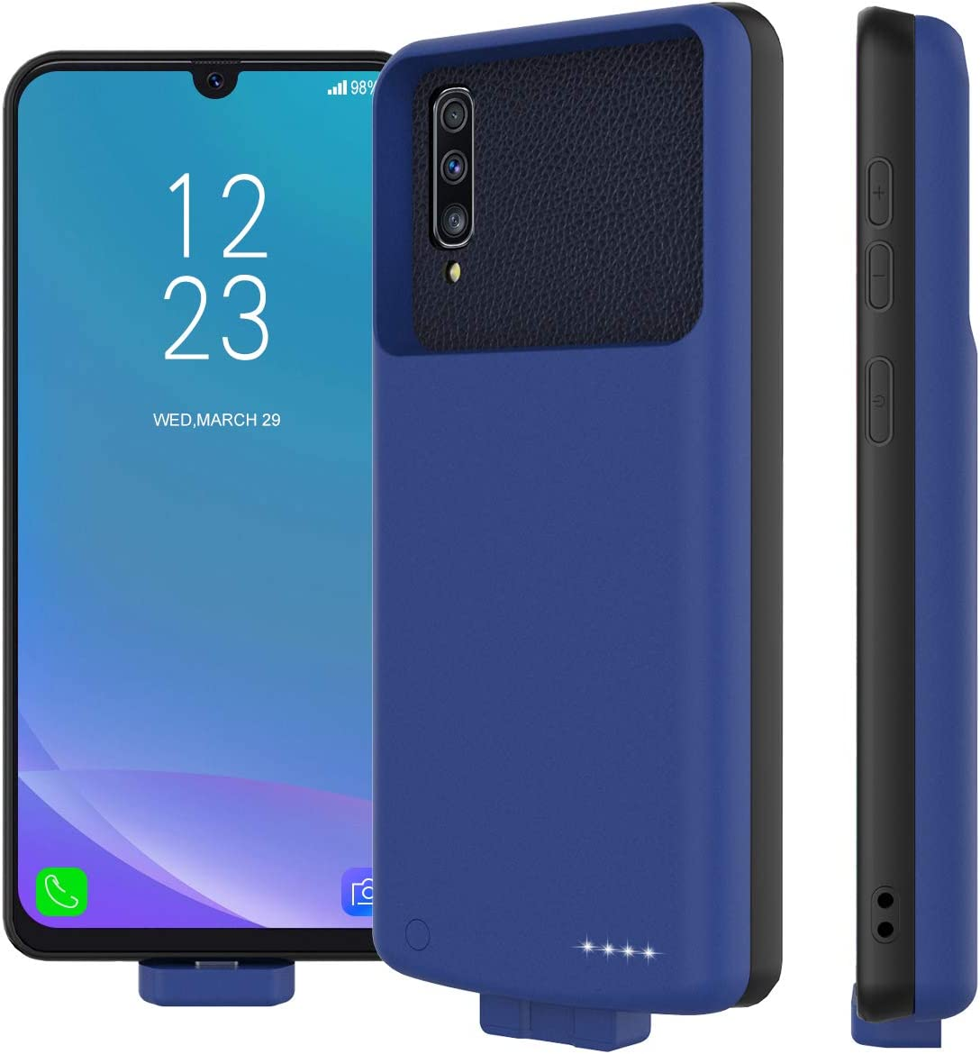 Battery Case for Case Compatible with Samsung Galaxy A50 7000mAh Battery Happon Ultra Slim Rechargeable Extended Charging Case Portable Protective Backup Power Bank Battery Cover Shell