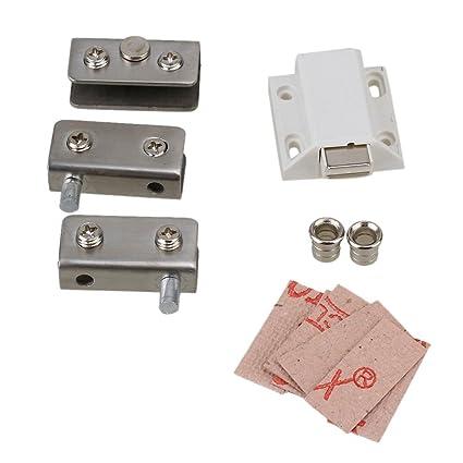 Amazon Silver Tone Glass Pivot Door Cabinet Lock Hinge Clamp