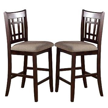 Amazon.com: poundex alta silla con asiento tapizado ...
