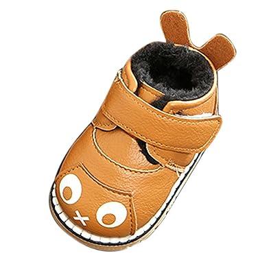 13936ee3fac72 Ouneed® Bebe Naissance Chaussure Fourrure Hiver Sneaker en Cuir Hiver Bebe  Naissance Fourrure Premier Pas EU15-20  Amazon.fr  Chaussures et Sacs