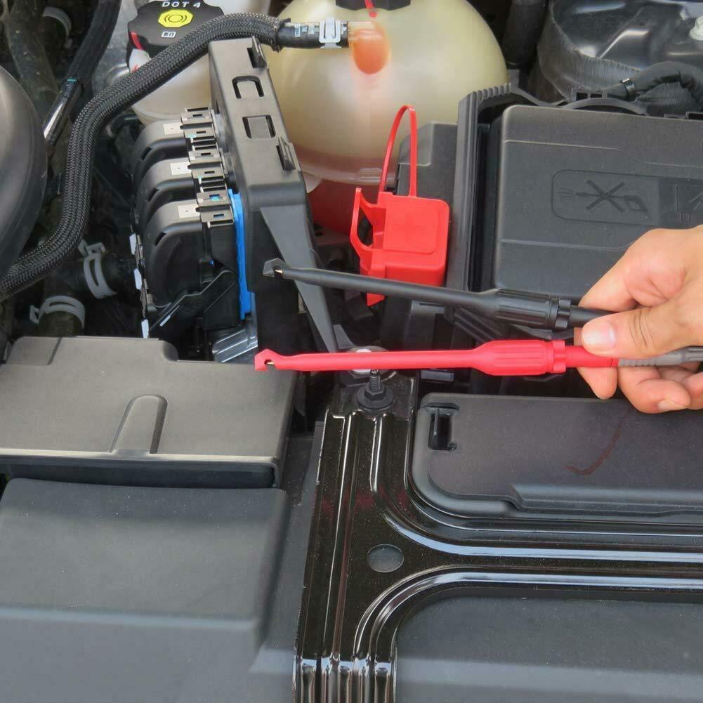 4mm Automotriz Cable Prueba Kit Power Probe Wire-Piercing Clip Herramientas Abilieauty 2 Pzas