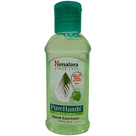 Buy Himalaya Pure Hands Sanitizer Green Apple 50ml Bottle
