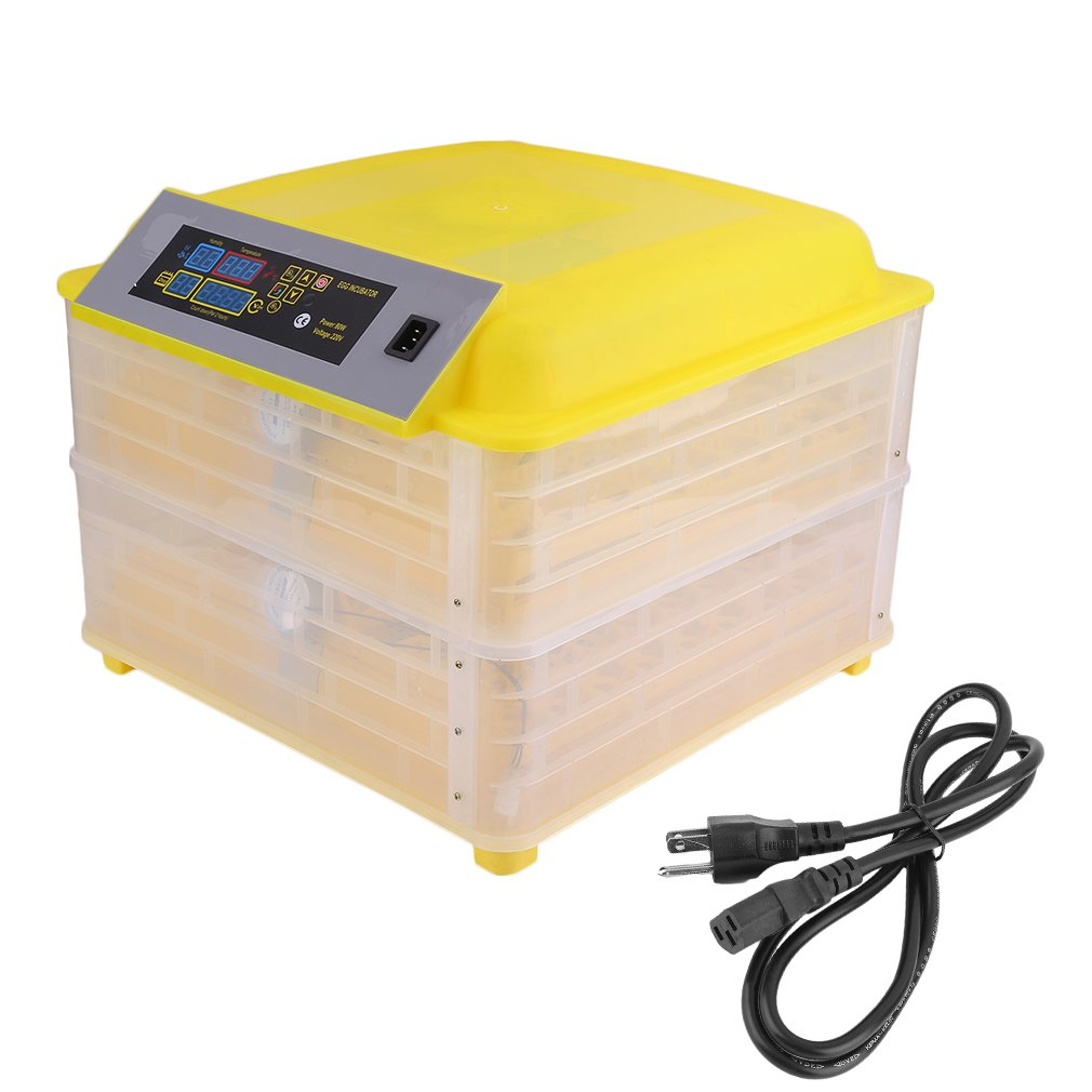 Egg Incubator, Blackpoolfa 96 Digital Fully Automatic Hatcher for Chicken Eggs, Poultry Hatcher for Chickens Ducks Goose Birds - Turning Temperature Control