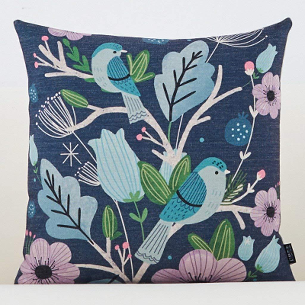 Polymer Soft Pillow 50X50Cm Square Modern Creative Sofa Cushion Office Bedside Cushion (Size : 45x45CM)