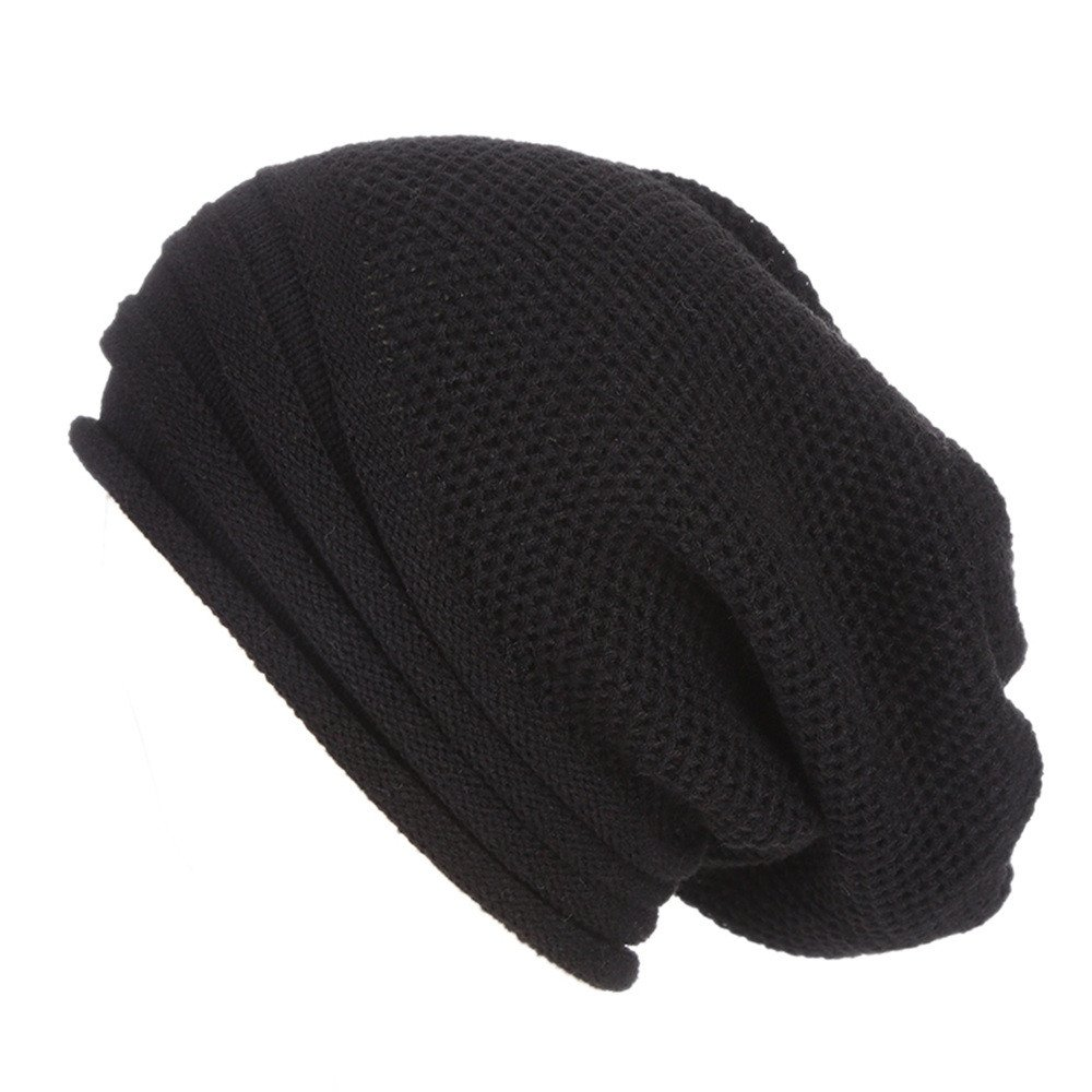 Malbaba Men Women Baggy Warm Crochet Winter Wool Knit Ski Beanie Skull Slouchy Solid color Caps Hat