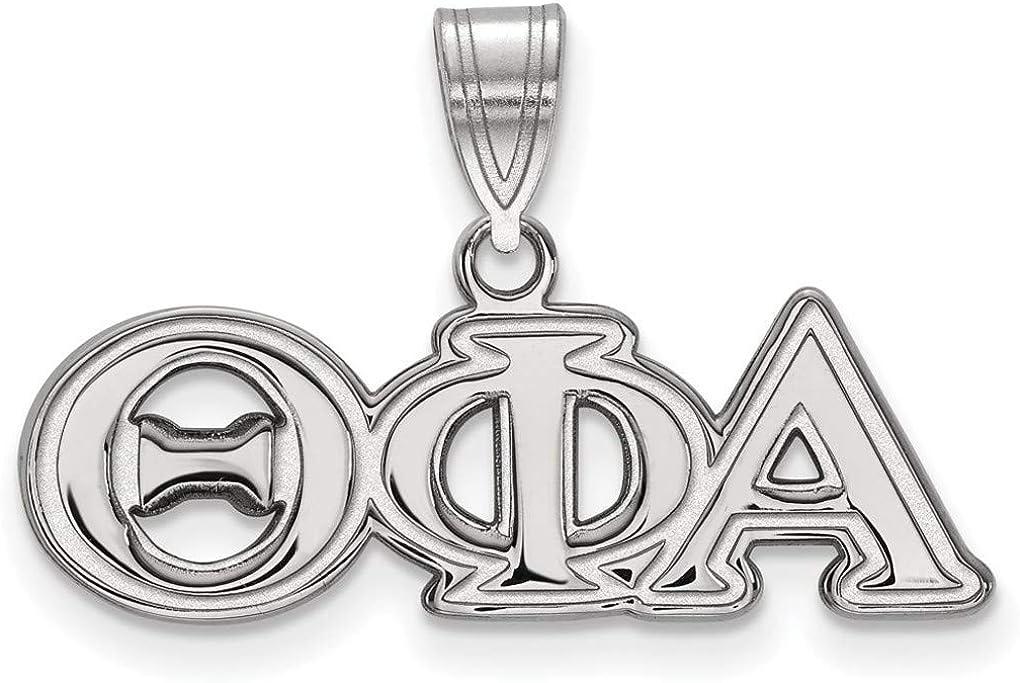 SS003TPA Sterling Silver Theta Phi Alpha Medium Pendant by LogoArt
