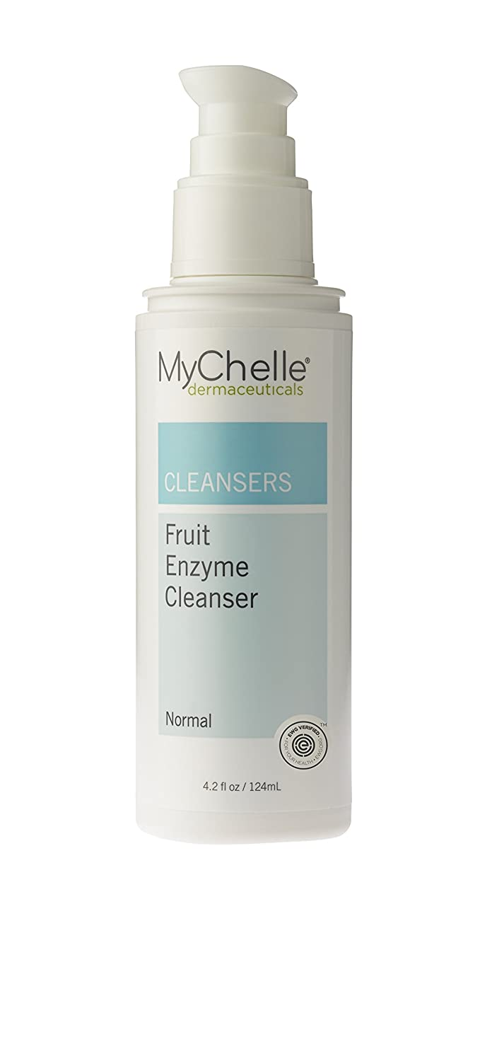 MyChelle Dermaceuticals Fruit Enzyme Cleanser- Gentle Deep Cleansing Face Wash for All Skin Types, AHA & Antioxidants Rich to Purify Pores and Promote Radiant Skin, 4.2 fl oz