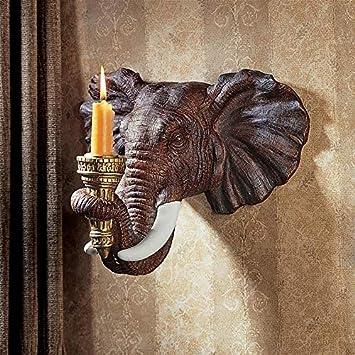 Toscano D'applique Murale Bougies30 Porte 5 Complète CmPolyrésinePalette Décor Africain Sculpture Couleur Design De Éléphant R5L34Aj