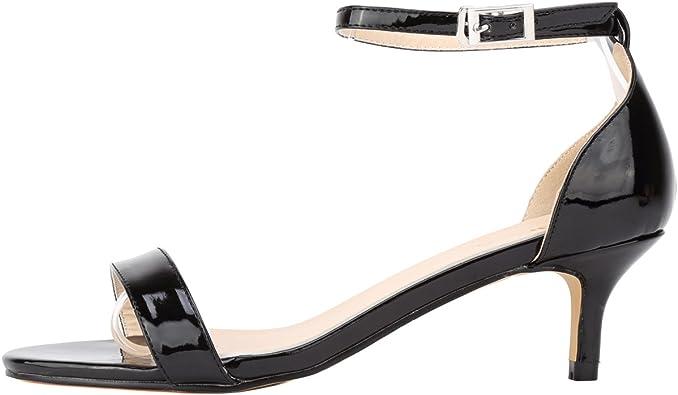 PU Patent Leather Mid Heels
