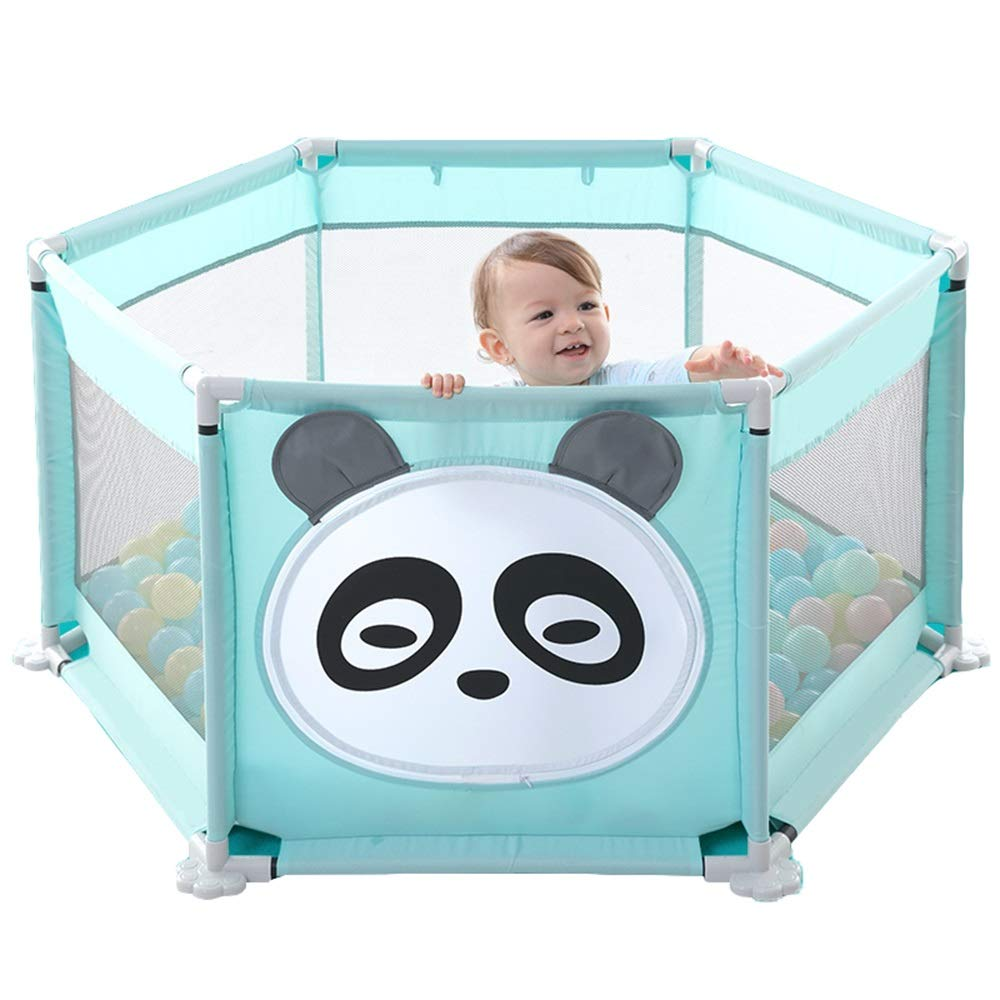 A Fence+100 ocean ball A Fence+100 ocean ball Xyanzi-Portable Baby playpen Safety Play Center,Portable Baby Playpen Ball Pit Tent Safety Play Center Yard Home Indoor Outdoor Best Toy to Release Parents (color   A, Size   Fence+100 Ocean Ball)