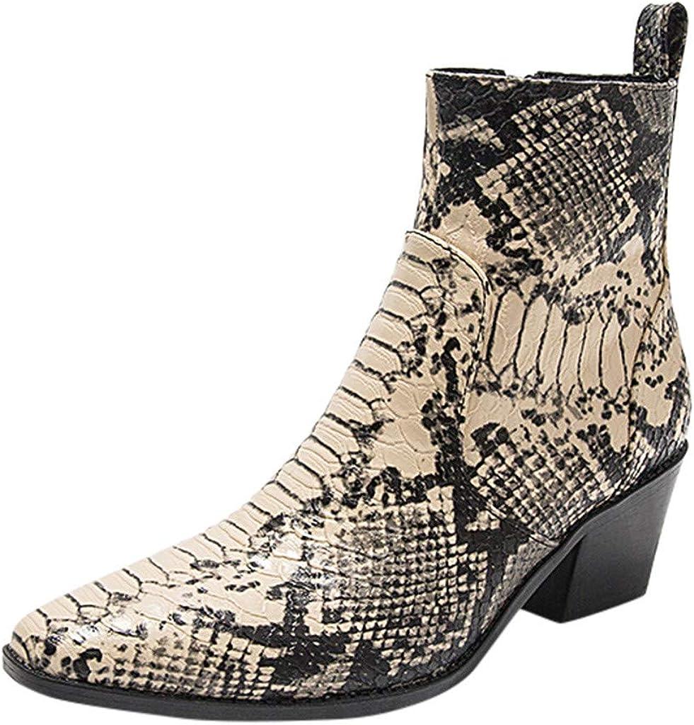 Fanteecy Womens Slip On Chunky Heel Ankle Elastic Chelsea Ankle Booties Ankle Rain Boots Waterproof Chelsea Boots
