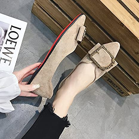 GAOLIM Primavera Singles Femeninos Zapatos De Fondo Plano Soja ...