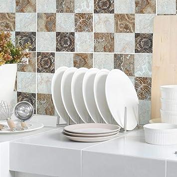 para el ba/ño autoadhesivos impermeables katsuya Adhesivos 3D para azulejos de pared