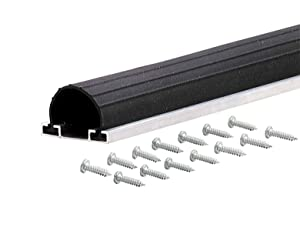 M-D Building Products 87668 18-Feet Universal Aluminum and Rubber Garage Door Bottom, Black