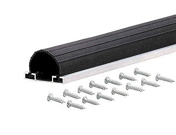 M D Building Products 87668 18 Feet Universal Aluminum And Rubber Garage  Door Bottom, Black