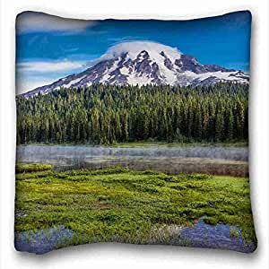 """Custom Cotton & Polyester Soft Nature Pillow Covers Bedding Accessories Size 16""""X16"""" suitable for Twin-bed"""