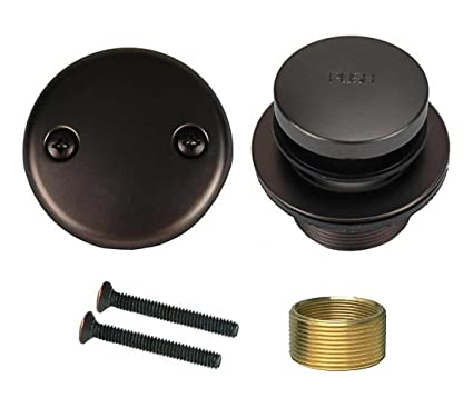 Oil Rubbed Bronze Toe Tap Touch Bath Tub Drain, Brass Construction ...