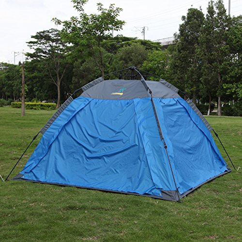 Webetop 3-4 Person Double Layer Quick Automatic Outdoor Camping Quartet Tent (Bule) (Indoor Air Conditioner Cover Xl compare prices)