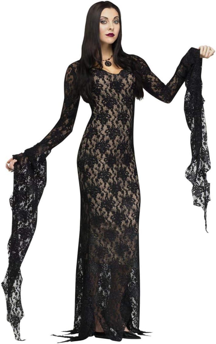 Horror-Shop Morticia traje de lujo con el cordón M: Amazon.es ...