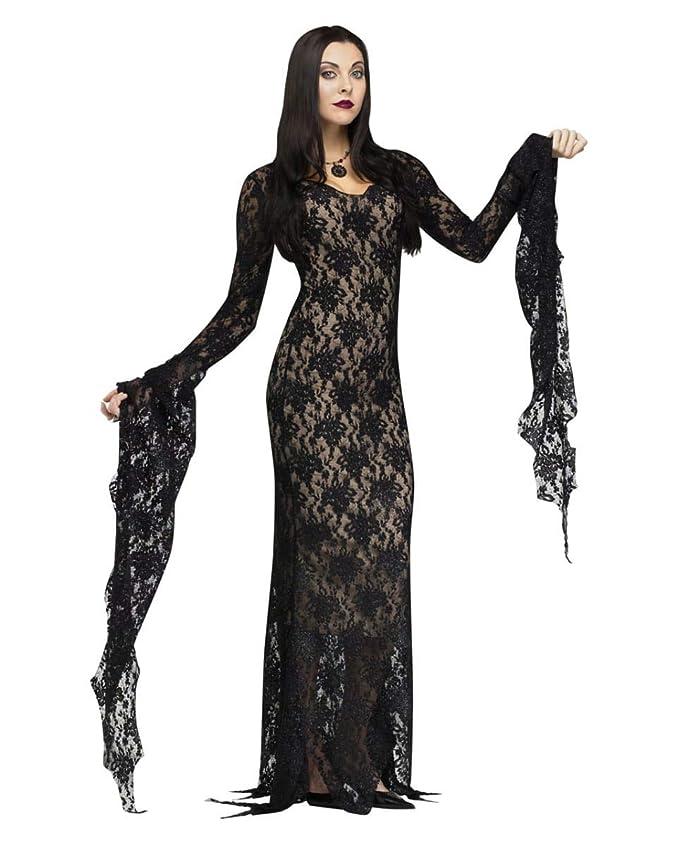 Horror-Shop Morticia traje de lujo con el cordón L: Amazon.es ...