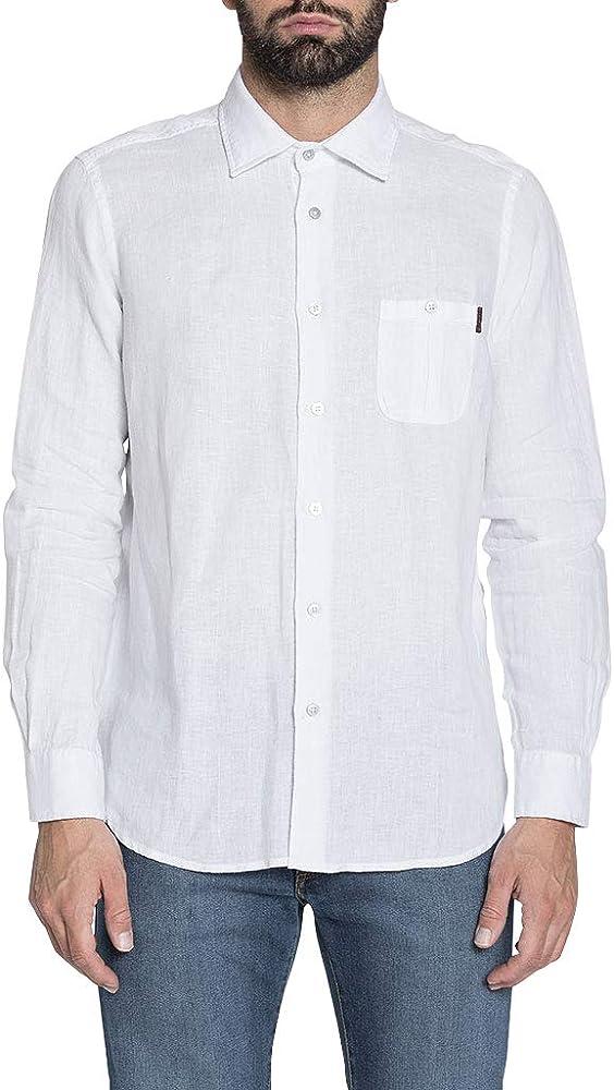 Carrera Jeans - Camisa 213 para Hombre, Estilo clásico, Color Liso, Ajuste Regular, Manga Larga: Amazon.es: Ropa y accesorios