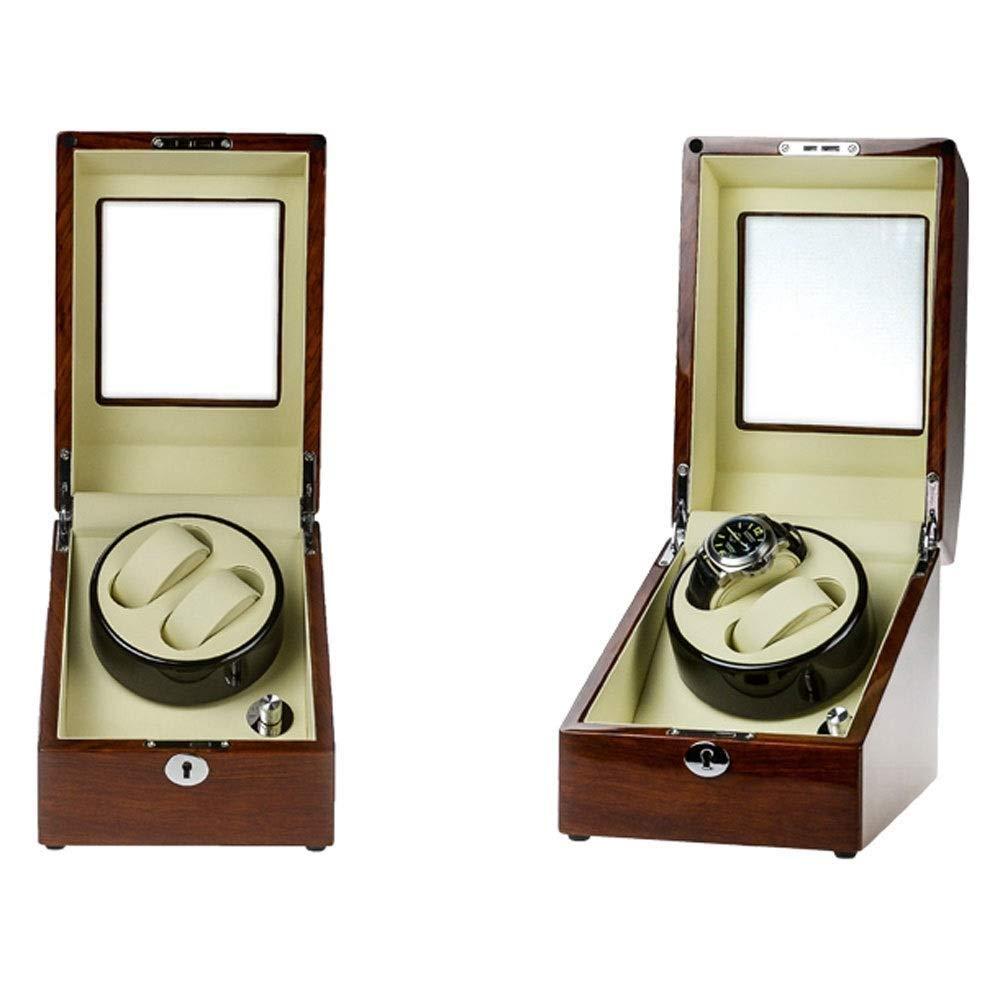自動巻き時計自動巻きワインダー自動巻き時計用2 + 3本革コンパートメント付き時計巻き取り機 B07TT65RZP