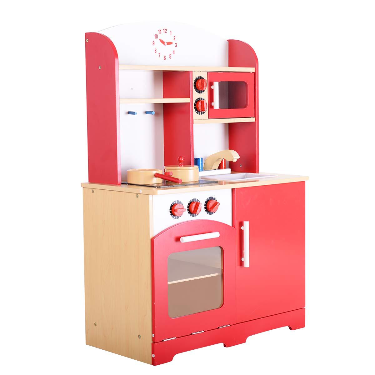 Costway Spielküche Rot