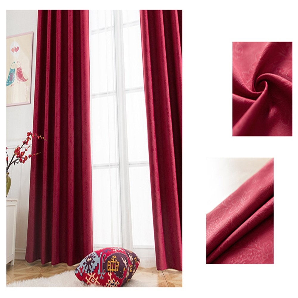 1 Panel Abreeze Embossed Beige Curtains Decoration Light Blocking Curtains Windows Coverings Curtains 79 Width by 79 Length Inch