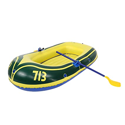Amazon com: ANCHEER Inflatable Boat 2-Person, Blow Up Boat with Oars