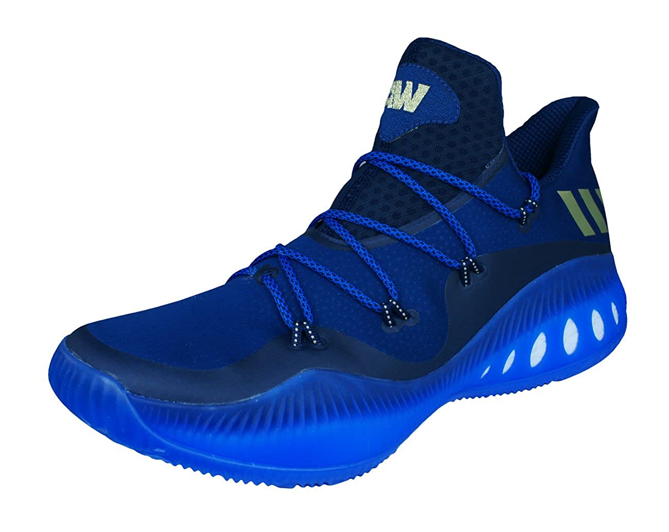 [ADIDAS] Crazy Explosive Low Mens Basketball Sneakers/Shoes-Blue-34.5 B06Y25VWVD