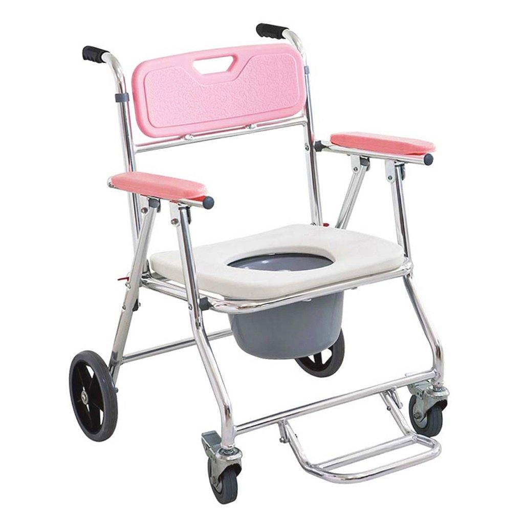 LXN ヘルスケア折りたたみポータブル固定高さモバイルトイレとトイレ椅子、車椅子とシャワー付き椅子 B07DTXB5RV