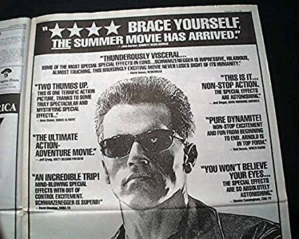 Amazon.com: Best TERMINATOR 2: JUDGMENT DAY Movie Premiere Poster Size AD1991 L.A. Newspaper LOS ANGELES TIMES, July 3, 1991: Entertainment Collectibles