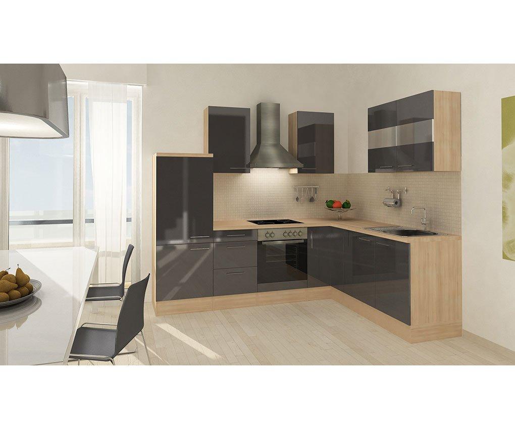 respekta Küchenleerblock Premium L-Küche 260 x 200 cm Akazie ...