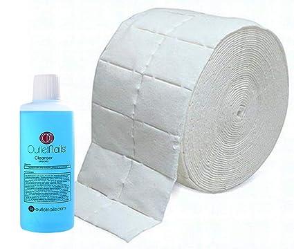 Cleaner para Gel 100ml Aroma Coco Azul + 500 Celulosas de Alta Calidad Precortadas/Eliminar