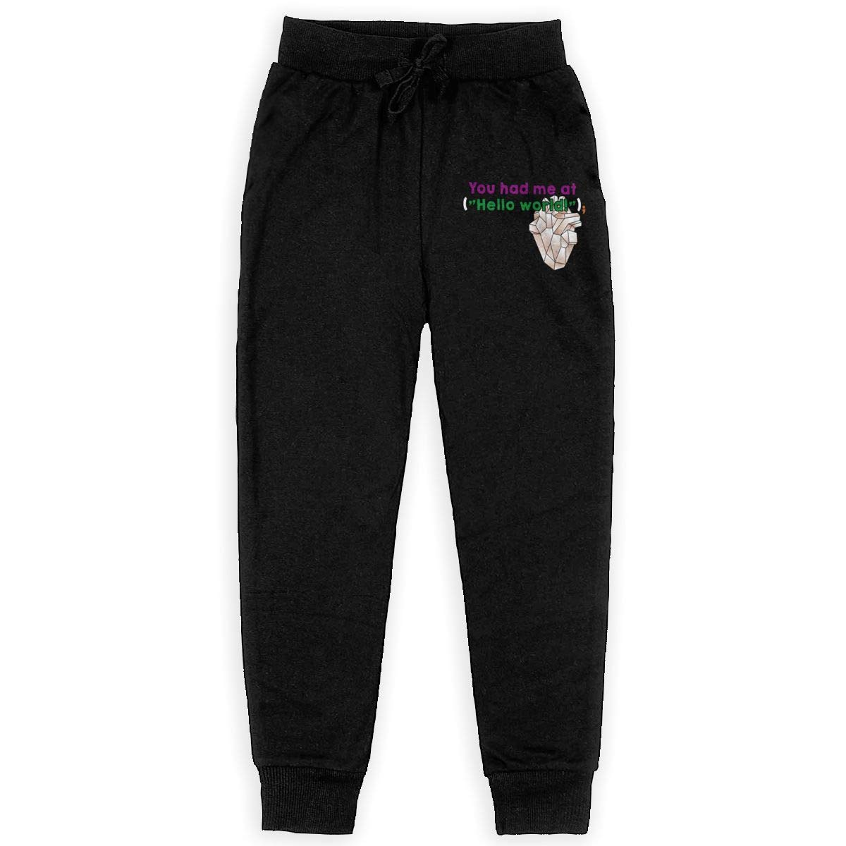 Dunpaiaa You Had Me Boys Sweatpants,Joggers Sport Training Pants Trousers Black