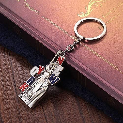 MINTUAN Nueva York Travel Gifts Souvenirs Llavero Aleación de Zinc ...