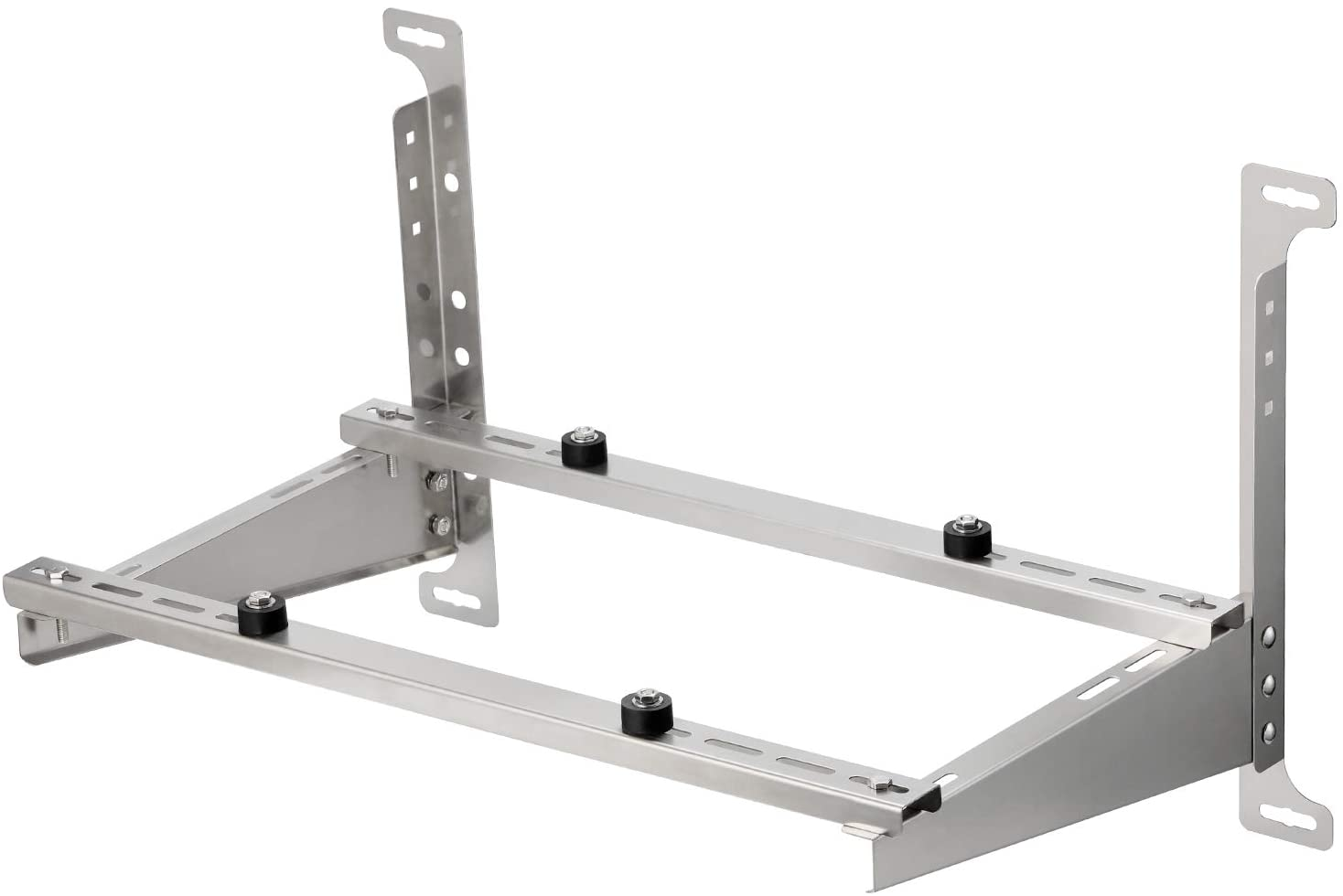 TURBRO Wall Mount Stand for Mini Split Ductless Air Conditioner Heat Pump System, Sturdy Stainless Steel Bracket w/Dual Cross-Bars, Support Condenser up to 450 lbs (7,000-24,000 BTU)